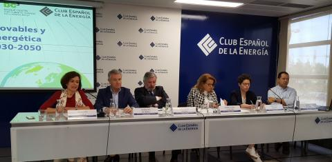 Key factors for the development of Renewable Energies in Spain, discussion with Maria Luisa Castaño, Natalia Fabra, Pedro Linares, Cayetana Crespo, Santiago Muñoz, Mariano Olmeda