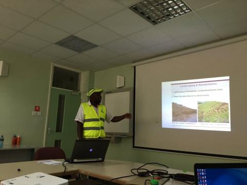 Study visit to Olkaria geothermal power plant. Kenya is 8th in the world with geothermal capacity installed.