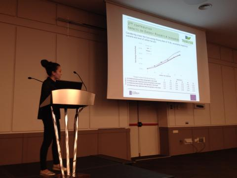 Jenny Lieu presenting impacts on energy poverty in Chile