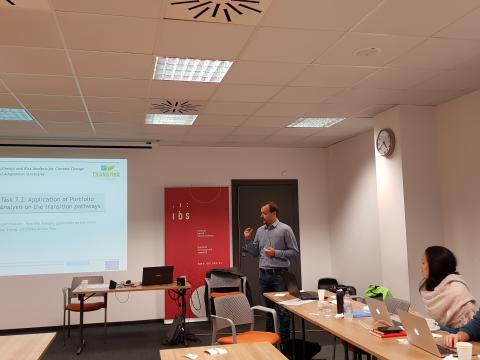 Haris Doukas presenting the Portfolio Analysis approach as implemented in the Greek case study